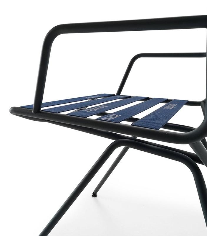 Zanotta Dan sedia cinghie blu vendita online - gallery 5