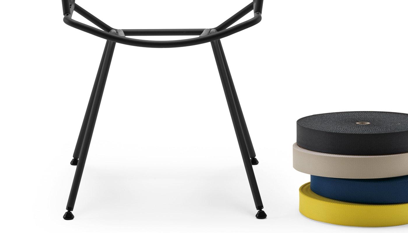 Zanotta Dan sedia cinghie elastiche dettaglio gallery 3