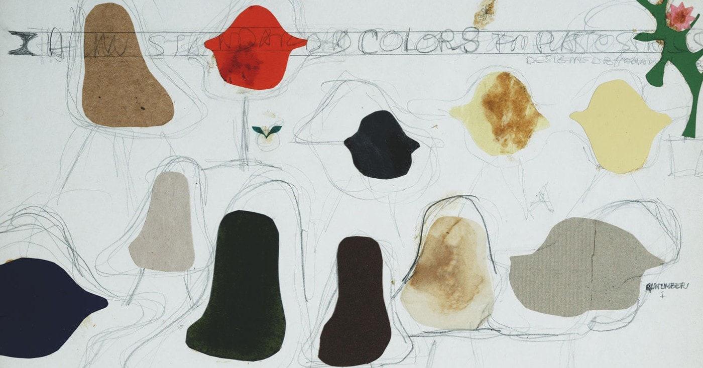 Disegni Eames, per le sedie Vitra Eames Plastic Chairs
